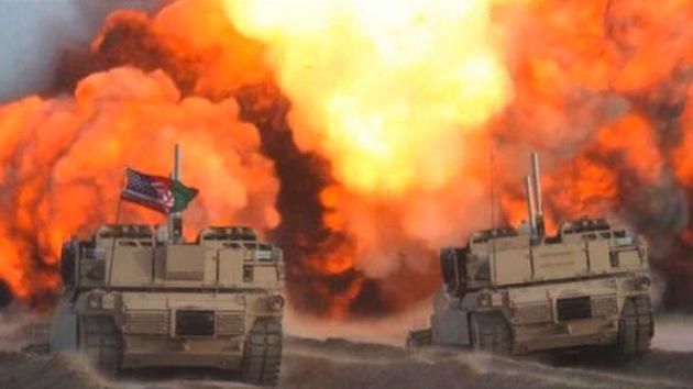VIDEO: Vehículos de asalto de EE.UU. se abren camino destruyendo viviendas afganas