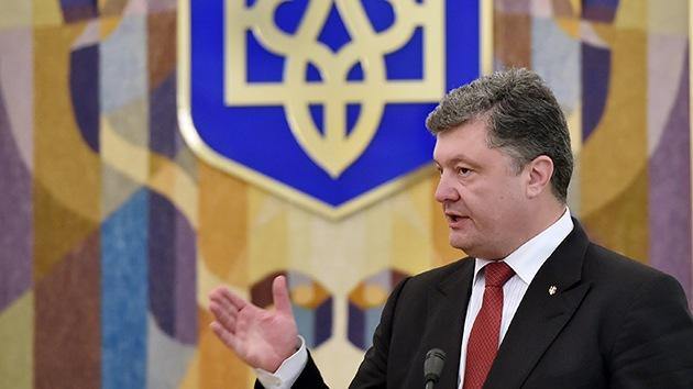 Poroshenko propone implantar un régimen especial para Donbass durante tres años