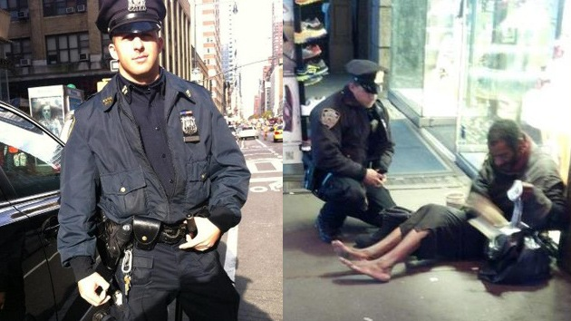 Un gesto de bondad de un policía neoyorquino emociona a los internautas