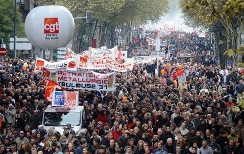 Toda Francia protesta contra la reforma del sistema de pensiones