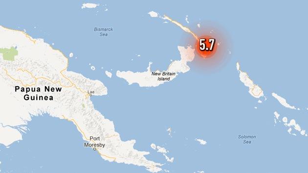 Se registra un sismo de magnitud 5,7 en Papúa-Nueva Guinea