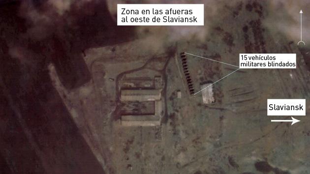 Fotos por satélite: Ucrania concentra gran cantidad de tanques y soldados en el este