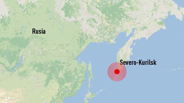 Un sismo de 6,8 grados se produjo cerca de las islas Kuriles