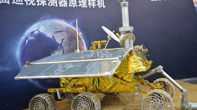 China presentó su sonda lunar con la imagen de una explosión atómica en Europa