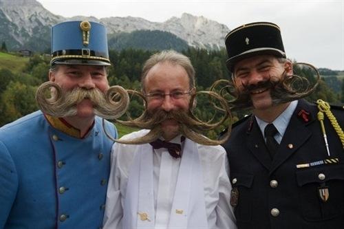 Campeonato europeo de barbudos y bigotudos en Austria