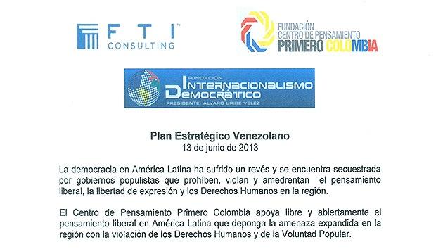 Documento evidencia un plan de desestabilización contra Venezuela