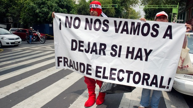 La izquierda mexicana busca pruebas del supuesto fraude electoral