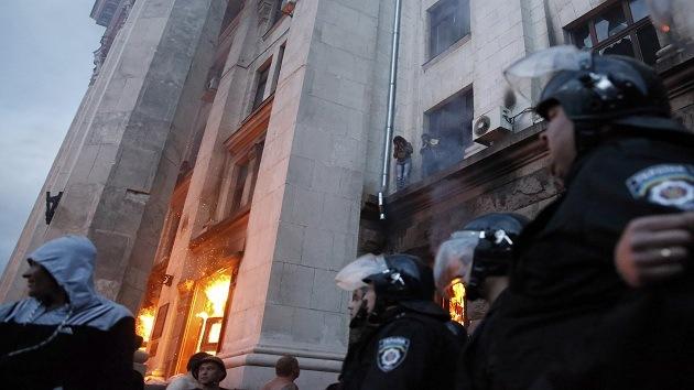 Las víctimas del incendio en Odesa murieron por una sustancia desconocida
