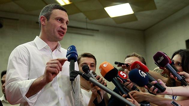 Encuesta a pie de urna: Vitali Klichkó está ganando las elecciones a la alcaldía de Kiev