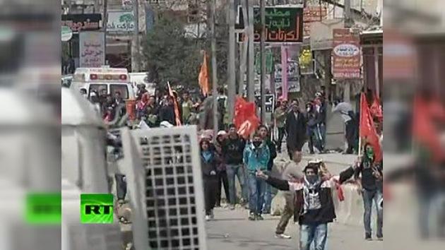 La Policía israelí dispersa a manifestantes con gases lacrimógenos en el Día de la Tierra