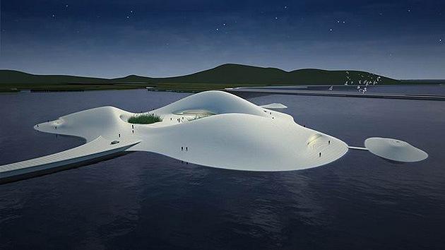 Fotos: China construye el mayor museo-isla artificial