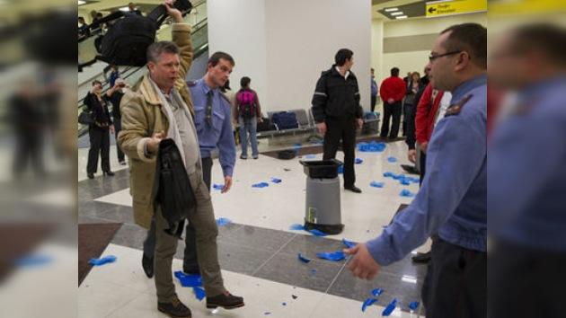 Disturbios en aeropuertos de Moscú