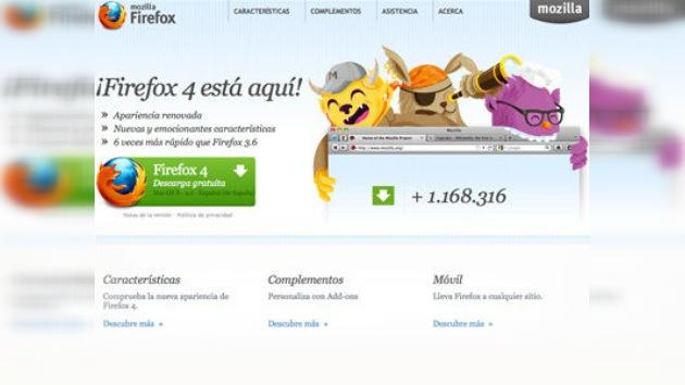 Mozilla lanza el Firefox 4 y supera al Explorer en descargas