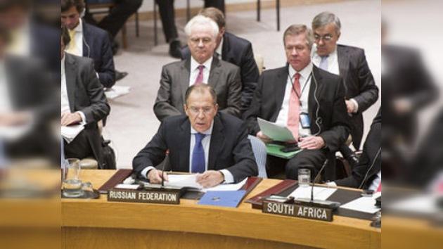 """Lavrov en la ONU: """"estimular a la oposición siria sólo provoca una escalada del conflicto"""""""
