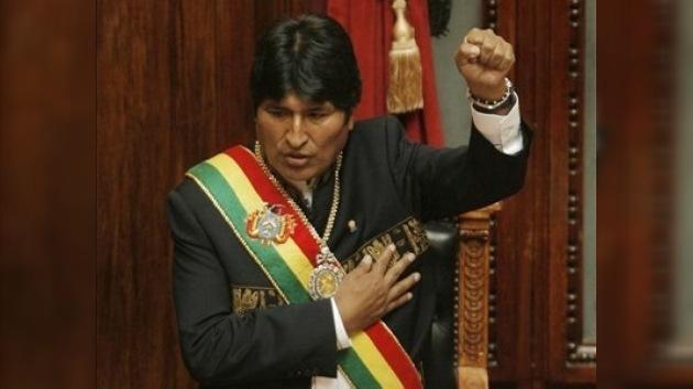 Evo Morales inaugura su segundo mandato presidencial