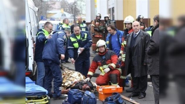 Vídeo de los primeros minutos después del atentado en el metro