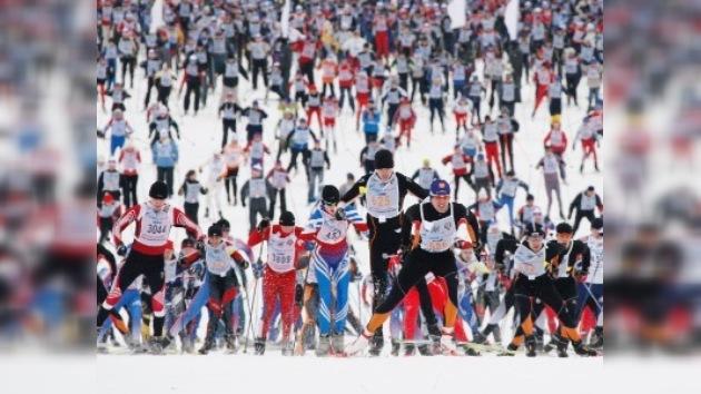 17 mil moscovitas participaron en competiciones de esquí