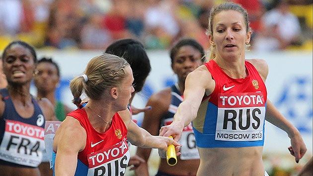 Las rusas ganaron el oro en los relevos 4x400 del Mundial de Atletismo en Moscú