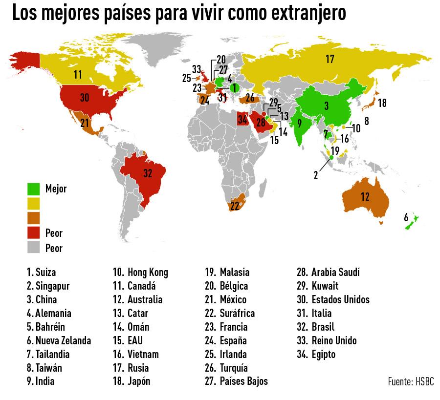 Infograf a en qu pa ses se vive mejor como extranjero rt for Las mejores alfombras de donde son