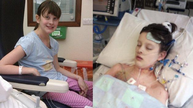 Una niña británica obtuvo un trasplante cardíaco justo cuando su corazón dejó de latir