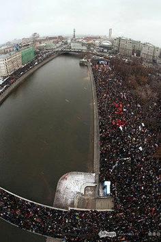Protestas de la oposición contra los resultados de las elecciones en Rusia