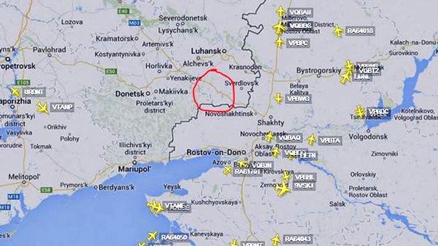 Compañías aéreas de todo el mundo modifican las rutas de sus aviones para evitar Ucrania
