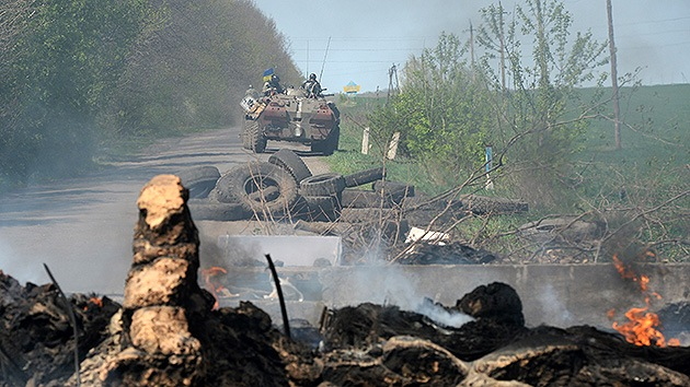 La propaganda antirrusa en Ucrania 'cae del cielo'