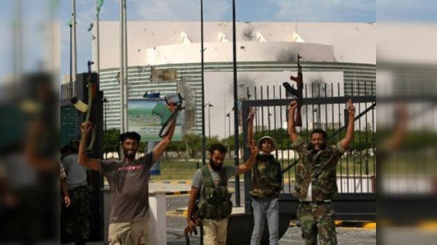 Sede de la Unión Africana, destruida en combates por el control de Sirte