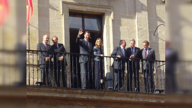 Primera visita de los Príncipes de Asturias a Miranda de Ebro