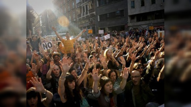 """Los """"indignados"""" regresan a la madrileña Puerta del Sol"""