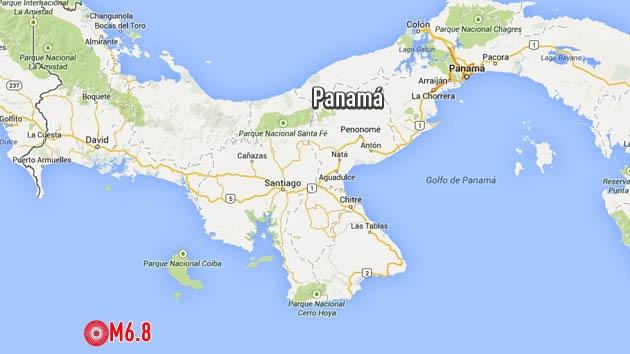 Se registra un sismo de magnitud 6,8 cerca de la costa de Panamá