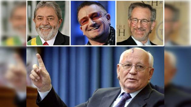 Lula, Bono, Spielberg y otros 'cambiaron el mundo', según Gorbachov