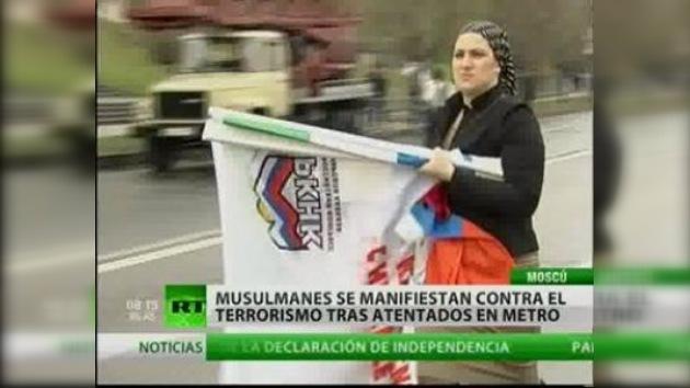 Los musulmanes de Moscú se manifiestan contra la violencia