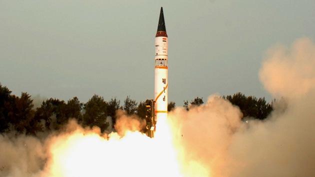 La India prueba misil balístico Agni-3 con capacidad nuclear