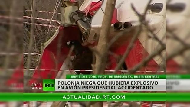 Polonia desmiente la información sobre un explosivo en el avión presidencial estrellado en Rusia