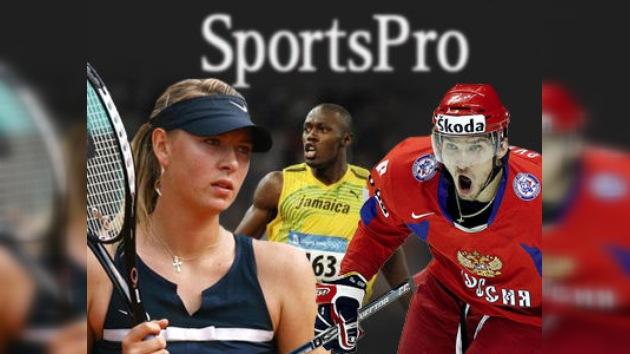 Los rusos Sharápova y Ovechkin entre los deportistas de mayor valor comercial