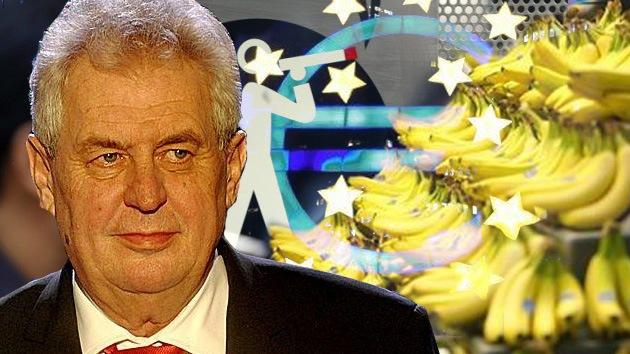 """El presidente checo, contra la manía de la UE de regular hasta """"la curvatura de la banana"""""""