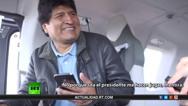 Un día con el presidente Evo Morales