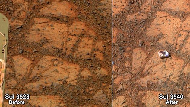Demandan a la NASA por no investigar una extraña roca marciana de origen desconocido