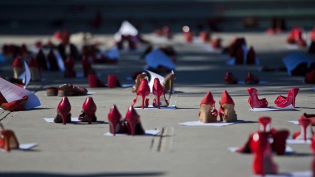 Fotos: Cientos de zapatos en protesta por los feminicidios en Ciudad Juárez