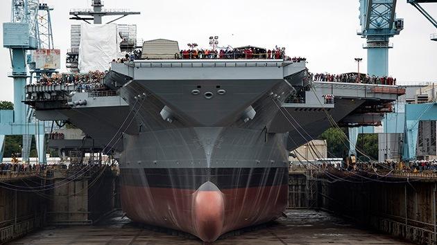 La Armada de EE.UU. fleta su nave más cara, el portaaviones nuclear USS Gerald R. Ford