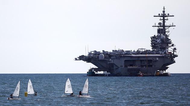 El portaaviones George Bush abandona el Mediterráneo y ya está en el Oriente Próximo