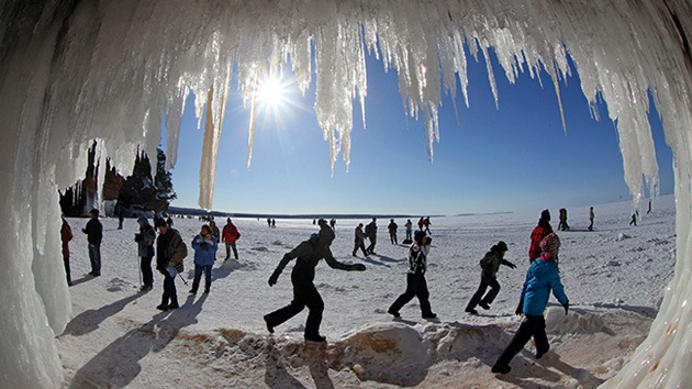 Catedrales de hielo en los lagos de Wisconsin