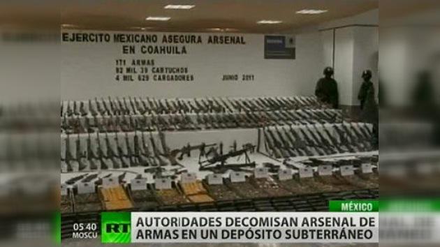 Descubren en Coahuila, México, un inmenso depósito subterráneo de armas