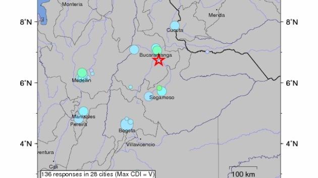 Un fuerte sismo sacude gran parte de Colombia