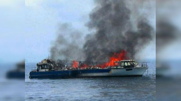 Un ferry con 1.200 pasajeros se incendia en el Mar Rojo