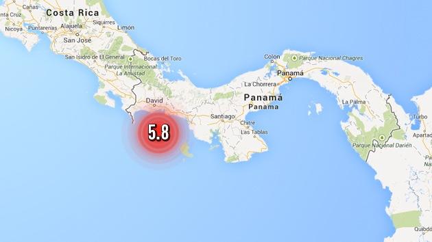 Un terremoto de magnitud 5,8 sacude Panamá