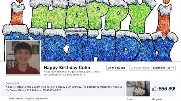 Facebook cumple el deseo de un niño 'sin amigos' y le consigue más de 800.000