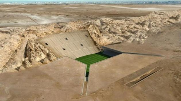 Emiratos Árabes construirá un estadio 'subterráneo' en medio del desierto