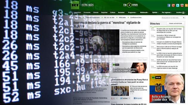 La página web de RT ha sido víctima de un ataque DDoS